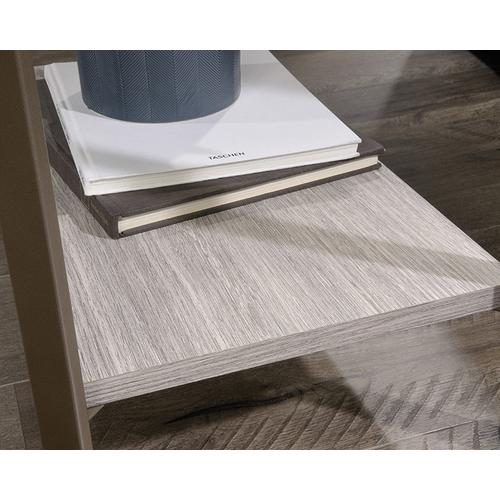 Product Image - Wood & Metal Side Table with Open Shelves