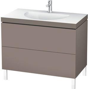 Furniture Washbasin C-bonded With Vanity Floorstanding, Basalt Matte (decor)