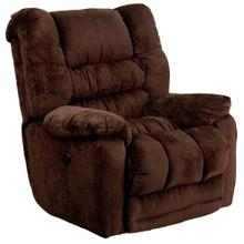 Contemporary Temptation Mahogany Microfiber Power Recliner with Push Button