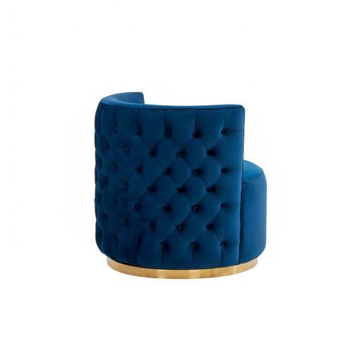 VIG Furniture - Modrest Gary - Modern Blue Fabric Accent Chair