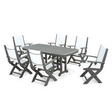 Slate Grey & White Coastal 7-Piece Dining Set