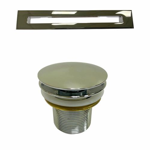 """Product Image - Onita 67"""" Acrylic Freestanding Tub with Integral Drain - Tap Deck - 7"""" Rim Holes / Brushed Nickel Drain and Overflow"""