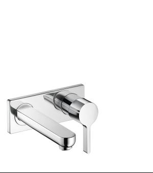 Chrome Wall-Mounted Single-Handle Faucet Trim, 1.2 GPM Product Image