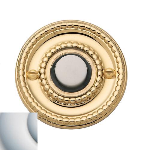 Satin Chrome Beaded Bell Button