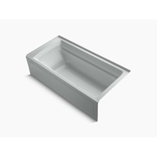 "Ice Grey 72"" X 36"" Alcove Bath With Bask Heated Surface, Integral Apron, and Right-hand Drain"