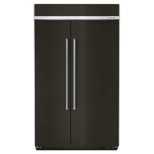 30.0 cu. ft 48-Inch Width Built-In Side by Side Refrigerator with PrintShield Finish Black Stainless