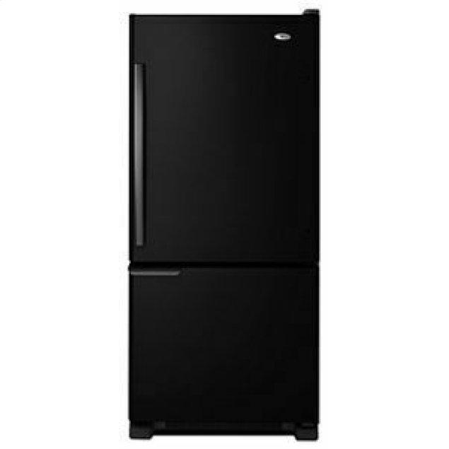 Amana 29-inch Wide Bottom-Freezer Refrigerator with Garden Fresh Crisper Bins -- 18 cu. ft. Capacity - Black