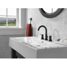Matte Black Two Handle Widespread Bathroom Faucet