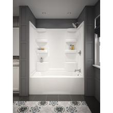 White ProCrylic 60 in. x 32 in. Bathtub Surround