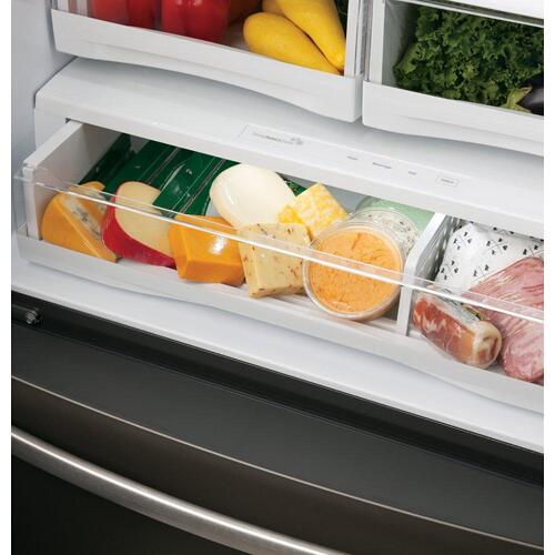 GE Profile™ Series ENERGY STAR® 22.1 Cu. Ft. Smart Counter-Depth French-Door Refrigerator with Keurig® K-Cup® Brewing System