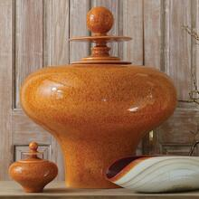 See Details - Happy Temple Jar-Orange-Squat