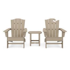 Polywood Furnishings - Wave Collection 3-Piece Set in Vintage Sahara