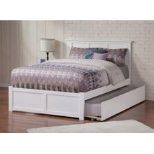 Madison Full Flat Panel Foot Board with Urban Trundle White