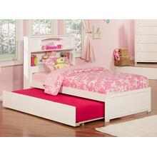 Newport Twin Flat Panel Foot Board with Urban Trundle White