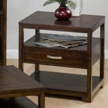 View Product - End Table W/ Suspended Drawer and 2 Shelves