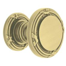 Satin Brass and Brown 5013 Estate Knob