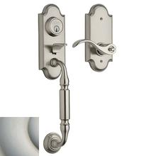 Satin Nickel with Lifetime Finish Ashton Two-Point Lock Handleset