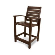 See Details - Signature Counter Chair in Mahogany