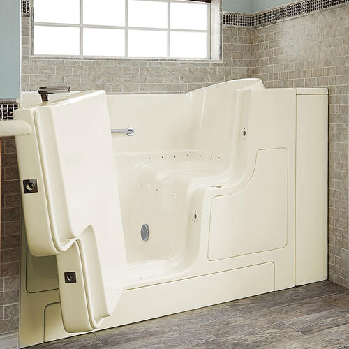 Gelcoat Premium Seriers 30x52 Walk-in Tub with Air Spa and Outswing Door, Left Drain  American Standard - Linen