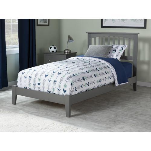 Atlantic Furniture - Mission Twin Bed in Atlantic Grey