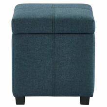 See Details - Juno Square Storage Ottoman in Grey-Blue
