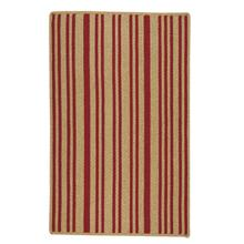 LM-Red Stripe Scarlet Braided Rugs
