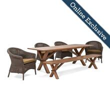 Cumberland 6pc Dining (4 Chairs, 1 Bench, 1 Table)