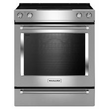 See Details - 30-Inch 5-Element Electric Convection Slide-In Range with Baking Drawer - Stainless Steel
