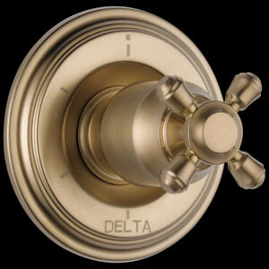 Champagne Bronze 6-Setting 3-Port Diverter Trim - Less Handle Product Image