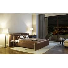 Modrest B1301 Modern Brown & White Bonded Leather Bed