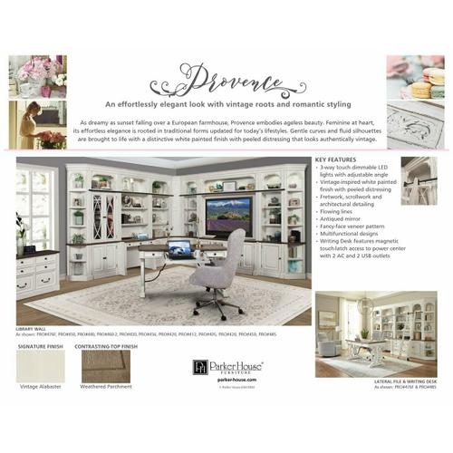 PROVENCE 12pc Library Wall with Lateral File and Writing Desk