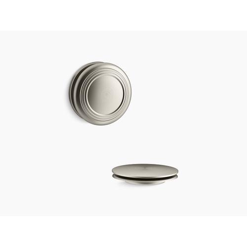 Kohler - Vibrant Brushed Nickel Push-button Bath Drain Trim