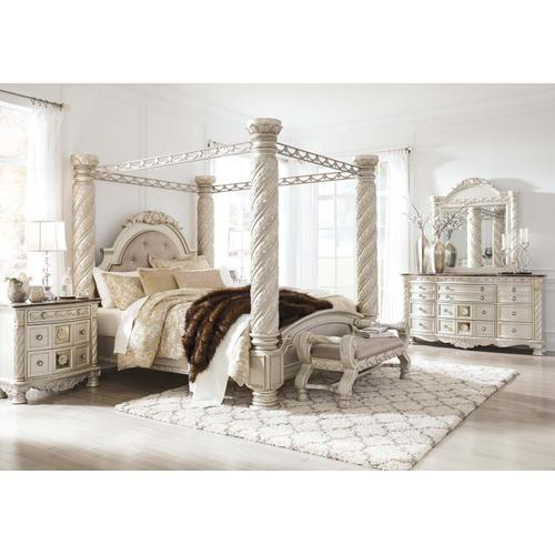 Ashley Furniture - Cassimore - Pearl Silver Complete Bed-frame only (King)