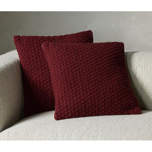 Claret Cover Cello Woven Rope Pillow Sets