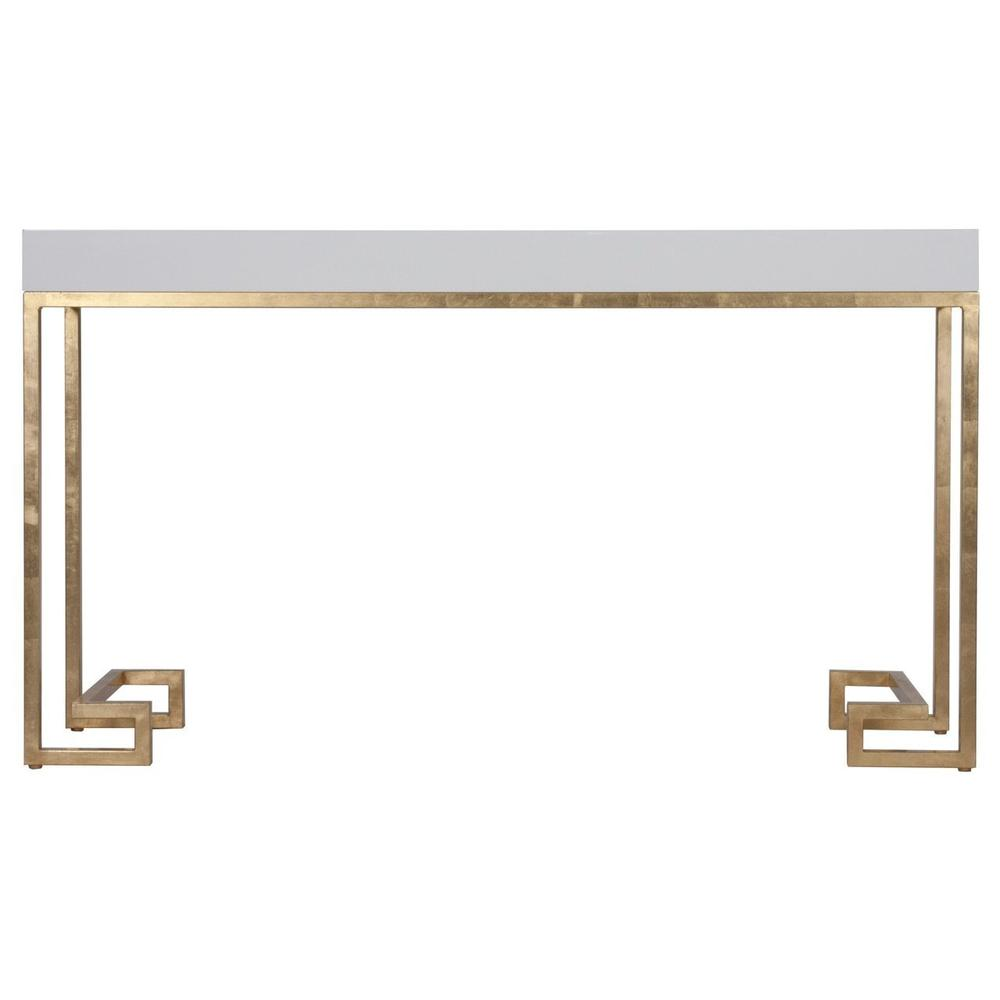 With Its Effortlessly Chic Silhouette, the Barsanti Console With Glossy White Lacquer Top Is Instantly At Home In Any Room. Obsession Worthy Details Like A Hand Applied Gold Leaf Finish and Meandering Greek Key Pattern Leg Detail Make This Console A Must-have.