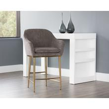 See Details - Bowman Counter Stool - fabric: sparrow grey