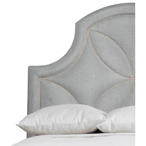 King-Sized Calista Upholstered Bed in Silken Pearl (388)