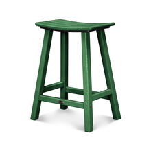 "Green Traditional 24"" Saddle Bar Stool"