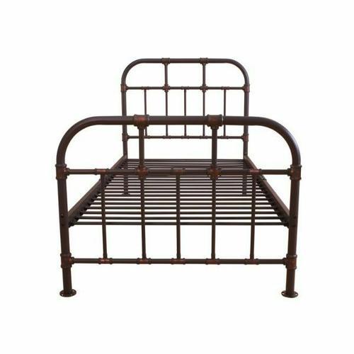 ACME Nicipolis Twin Bed - 30730T - Sandy Gray