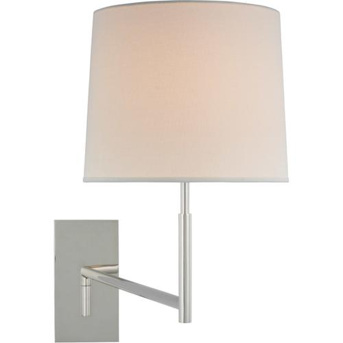 Barbara Barry Clarion LED 29 inch Polished Nickel Articulating Sconce Wall Light, Medium