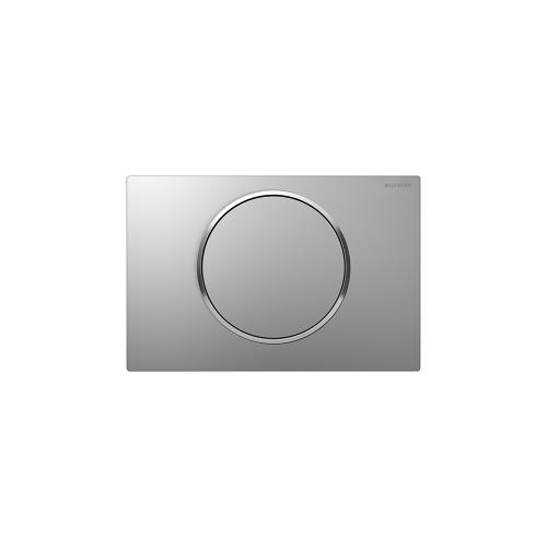 Sigma10 Flush plates for Sigma series in-wall toilet systems Matte chrome with polished chrome accent NEW! Finish