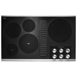 """KitchenAid36"""" Electric Downdraft Cooktop with 5 Elements - Stainless Steel"""