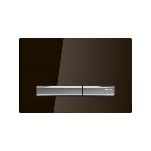 Sigma50 Dual-flush plates for Sigma series in-wall toilet systems Umber glass Finish