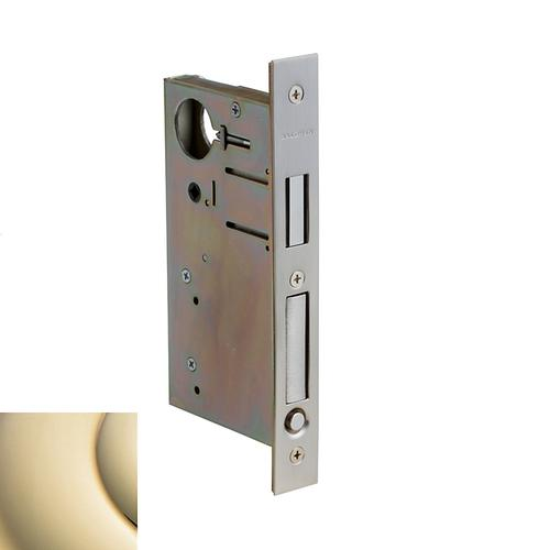 Lifetime Polished Brass 8632 Pocket Door Lock with Pull