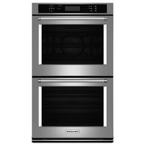 """KitchenAid30"""" Double Wall Oven with Even-Heat™ True Convection (Upper Oven) - Stainless Steel"""