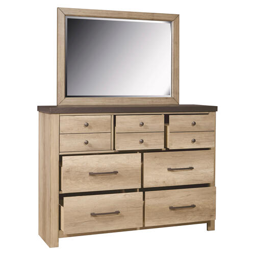 Barnwood Seven Drawer Dresser in Brown