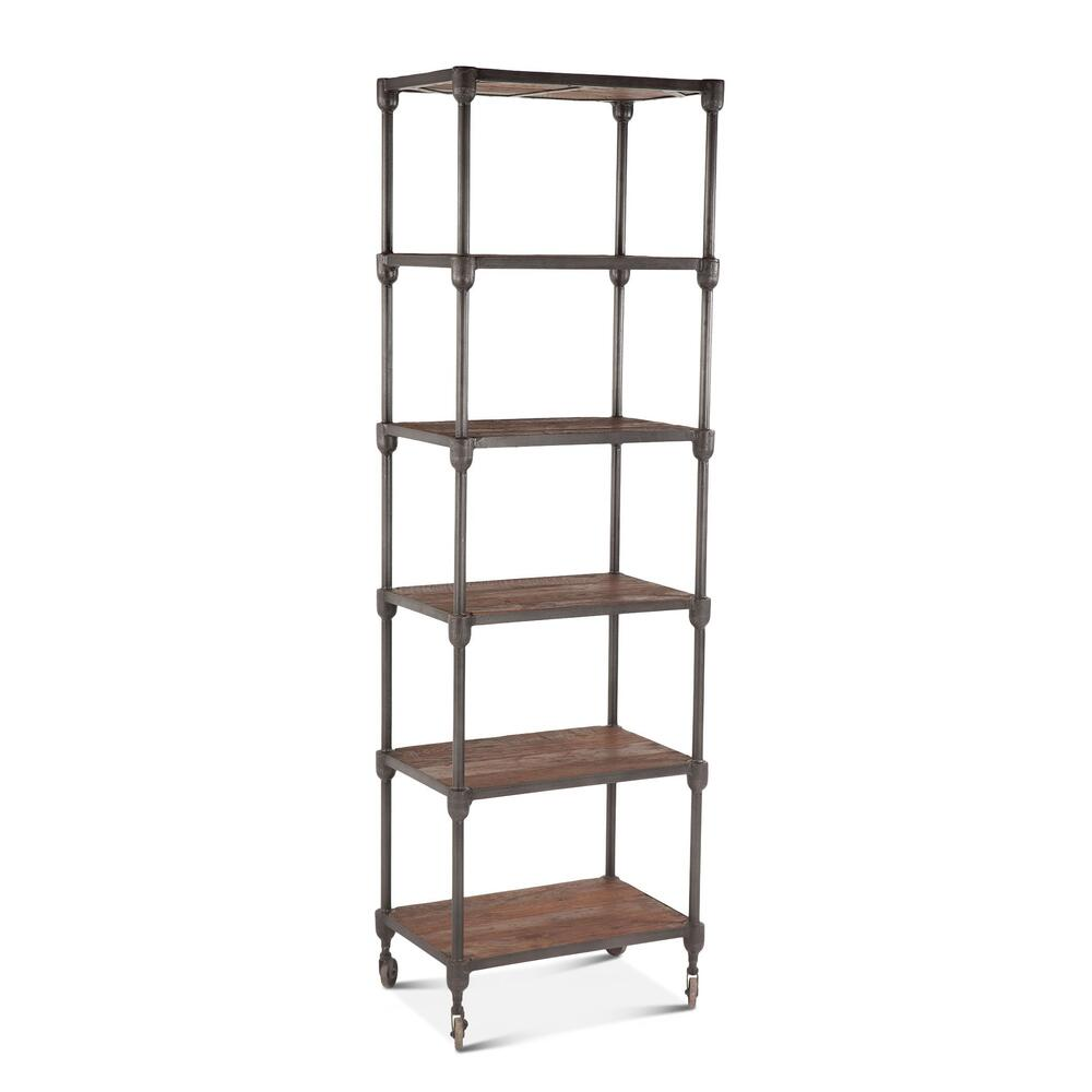 """See Details - Industrial Teak 25"""" Wide Bookshelf"""