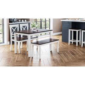 See Details - Asbury Park Table With 2 Chairs and Bench White /autumn