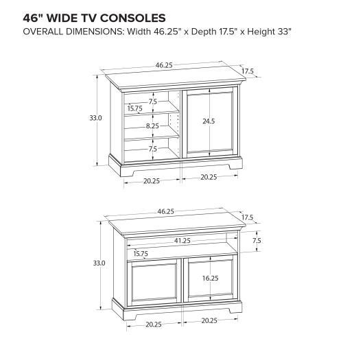 Howard Miller Custom TV Console TS46L