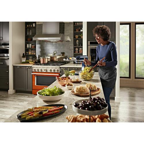 KitchenAid - KitchenAid® 36'' Smart Commercial-Style Dual Fuel Range with 6 Burners - Scorched Orange
